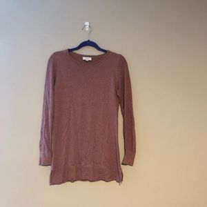 Loft Outlet Pinkish Red Tunic Sweater